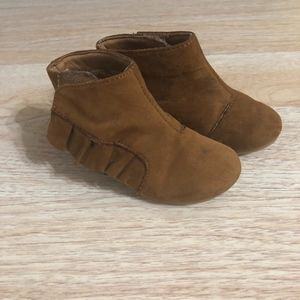 Brown Faux Suede Boho Toddler Boots